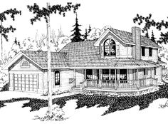 Eplans Farmhouse House Plan - Three Bedroom Farmhouse - 2202 Square Feet and 3 Bedrooms from Eplans - House Plan Code HWEPL58445