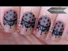 ChristabellNails Lace Nail Art Tutorial - YouTube