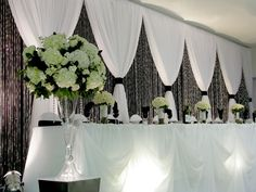 DELUXE 3 Panel Wedding Backdrop - 6-14ft High, 3-Panel Fabric Backdrops, Event Decor Direct