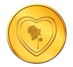 Buy MNC 22 Karat Valentine Rose with Heart Gold Coin (91.6) @ 3260
