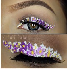 Flower eyeliner, floral eyes