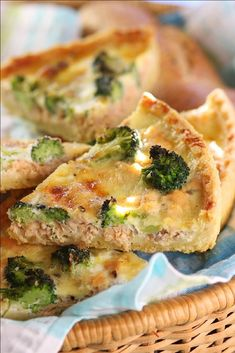 Salmon  Brocolli Quiche
