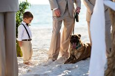 The kid can't believe the dog was the ring bearer instead of him.