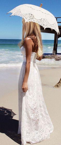 Romantic Maxi Lace Inspiration Dress
