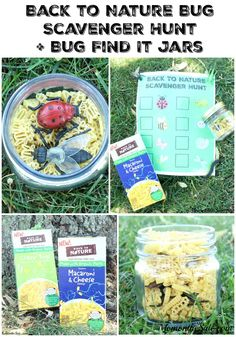 Back to Nature Bug Scavenger Hunt +  Bug Find It Jars so you can get #BackToPlay and mealtime your playground! ad