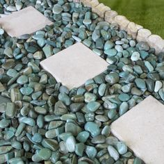 River Rock Landscaping, Landscaping With Rocks, Outdoor Landscaping, Front Yard Landscaping, Outdoor Gardens, Decorative Rock Landscaping, Nautical Landscaping, Front Yard Decor, Landscaping Around House