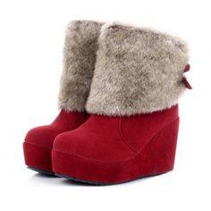 Stylish Round Head Keep Warm Short Cylinder Boots