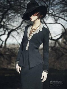 Forest Flapper Shoots - Ilva Heitmann Stars in a 20s-Inspired Editorial for Elle Denmark March 2012 (GALLERY)
