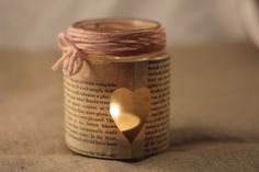 riciclo vasetti della marmellata 17 Laura Lee, Candle Jars, Mason Jars, Candles, Pots, Deco Table, Centerpieces, Merry Christmas, Sweet Home