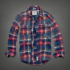 Mens Sentinel Range Flannel Shirt | Mens Shirts | Abercrombie.com