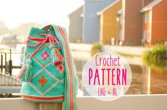 Crochet pattern (English & Dutch) PDF Mochila bag with with flowers in green, mint, pink and ocher. Are you just as excited about tapestry crochet and specific about crocheting a Mochila bag like me? Then, this extensive crochet pattern is really nice for you! The height of the bag is