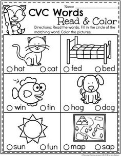 CVC Words CVC Words Read and Color CVCwords kindergarten planningplaytime kindergartenworksheets CVC Words CVC Words Read and Color CVCwords kindergarten planningplaytime kindergartenworksheets Kindergarten Reading Activities, Kindergarten Lesson Plans, Homeschool Kindergarten, Preschool Learning, Kindergarten Worksheets, English Kindergarten, Kindergarten Journals, Homeschooling, Teaching Phonics