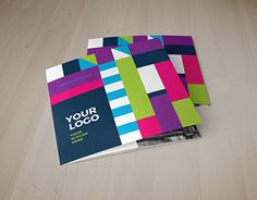 Square Cool Colorful Trifold