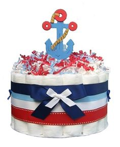 Nautical Anchor Diaper Cake