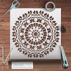 Mandala-Style Stencil For Decoration