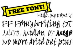 Find FF FancyWriting on #FontShop and download it for free!