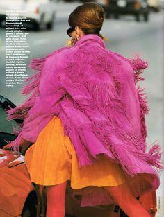 Elle Italia September 1991 Metropoli Ph: Gilles Bensimon Model: Fabienne Terwinghe; Kara Young; UTM Styling: Loren Laney Hair: Michel Aleman Makeup: Giorgio for Racine NYC