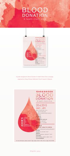 A poster designed for Blood Donation & Health Check Drive campaign.