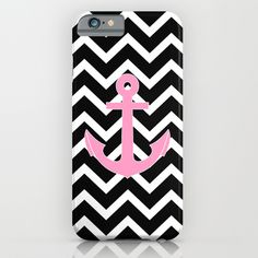 Buy Pink Anchor Black Chevron Zigzag Pattern by RexLambo as a high quality iPhone & iPod Case. Worldwide shipping available at Society6.com. Just one of…