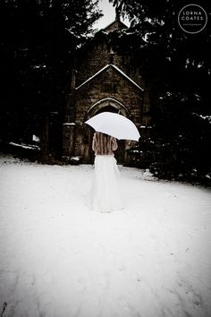 Trash the dress in the snow!