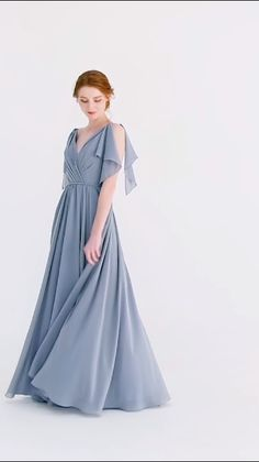 1e61df1ed324a 9 Best dusty blue dress images | Dress long, Dress wedding, Long gowns