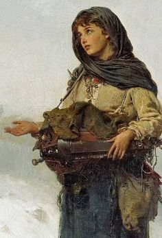 German school - The beggar maid. 19th century, detail