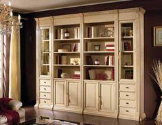 Книжный шкаф цвета слоновой кости mscp/0010, фабрика Scappini
