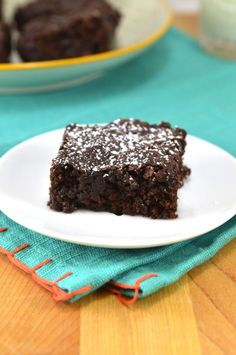 Double Chocolate Vegan Brownies!!! These would be sooooo delicious and are simple to make! (Comment by @paigeydoll1 )