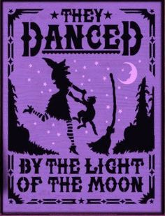 Primitive witch and black cats halloween signs Witches They danced by the light of the moon samhain witchcraft wiccan Props cat familar  by SleepyHollowPrims, $24.30 USD
