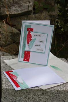Polly kreativ: Bastelpackung Karte mit Federn