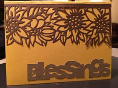 Scrapbooking Made Simple Simply Defined Harvest Your Blessing die(s) were used in the creation of this card  (Blessings is a Silhouette cut)