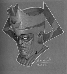 Galactus by Ariel Olivetti * Marvel 3, Marvel Comic Books, Marvel Heroes, Marvel Characters, Comic Books Art, Comic Art, Fantastic Four Villains, Galactus Marvel, Silver Surfer