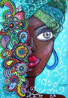Doodle Art, 7 Arts, Wal Art, African Art Paintings, Afro Art, Dot Art Painting, Arte Pop, Whimsical Art, Oeuvre D'art