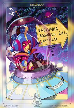 Colorido e vindo de um planeta desconhecido, Etevaldo acabou se tornando amigo de todos os personagens graças ao seu jeito ingênuo de ser e a...