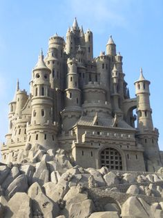 building castles in the sand. Having seen one of these in person, I can tell you they are stunning!