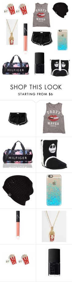 """Erin movie with friends"" by erin091203 on Polyvore featuring Abercrombie & Fitch, Billabong, Tommy Hilfiger, UGG Australia, Casetify, NARS Cosmetics and ASOS"