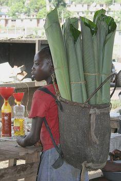 Girl with basket, Gabon