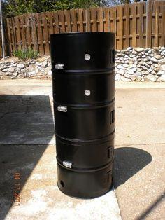 Vertical drum smoker