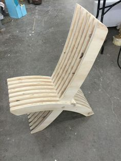 Chair from scrap wood