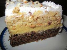 Recepti i kuhinja: Ambasador torta Torte Recepti, Kolaci I Torte, No Cook Desserts, Just Desserts, Brze Torte, Baking Recipes, Cake Recipes, Torta Recipe, Torte Cake