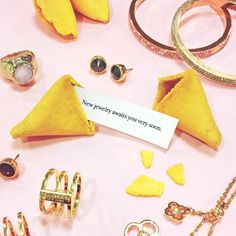 We know these cute cookies speak the truth! #nationalfortunecookieday #jewelry