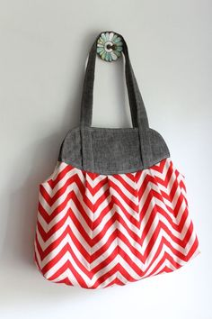 Only $8 for the pattern and so many fabric possibilities.  I made a diaper bag out of fabric in my stash.