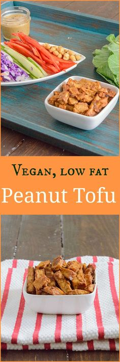 Try this crispy peanut tofu that is baked in the oven and packed with peanut flavor. Perfect with quick stir fry or in a wrap! Low fat, vegan, gluten free.
