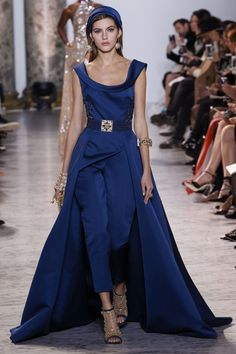 Retro fashion love, but with the most amazing train! Elie Saab Spring/Summer 2017 couture