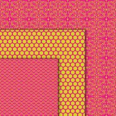 Pink Digital Paper Pack Damasks Quatrefoil Pink by gidgetdesigns