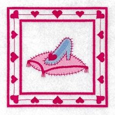 Shoe and Pillow Princess Quilt Square - 5x5 | Quilt | Machine Embroidery Designs | SWAKembroidery.com Starbird Stock Designs