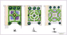 Front garden designs based on parterre style Bea Ray Garden and Landscape Design