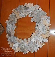 DIY birch bark wreath!