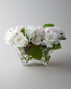 """Florence de Dampierre """"Pivoines and Roses"""" Faux Floral Arrangement - Horchow"""