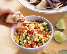 Corn, Avocado, and Tomato Dip
